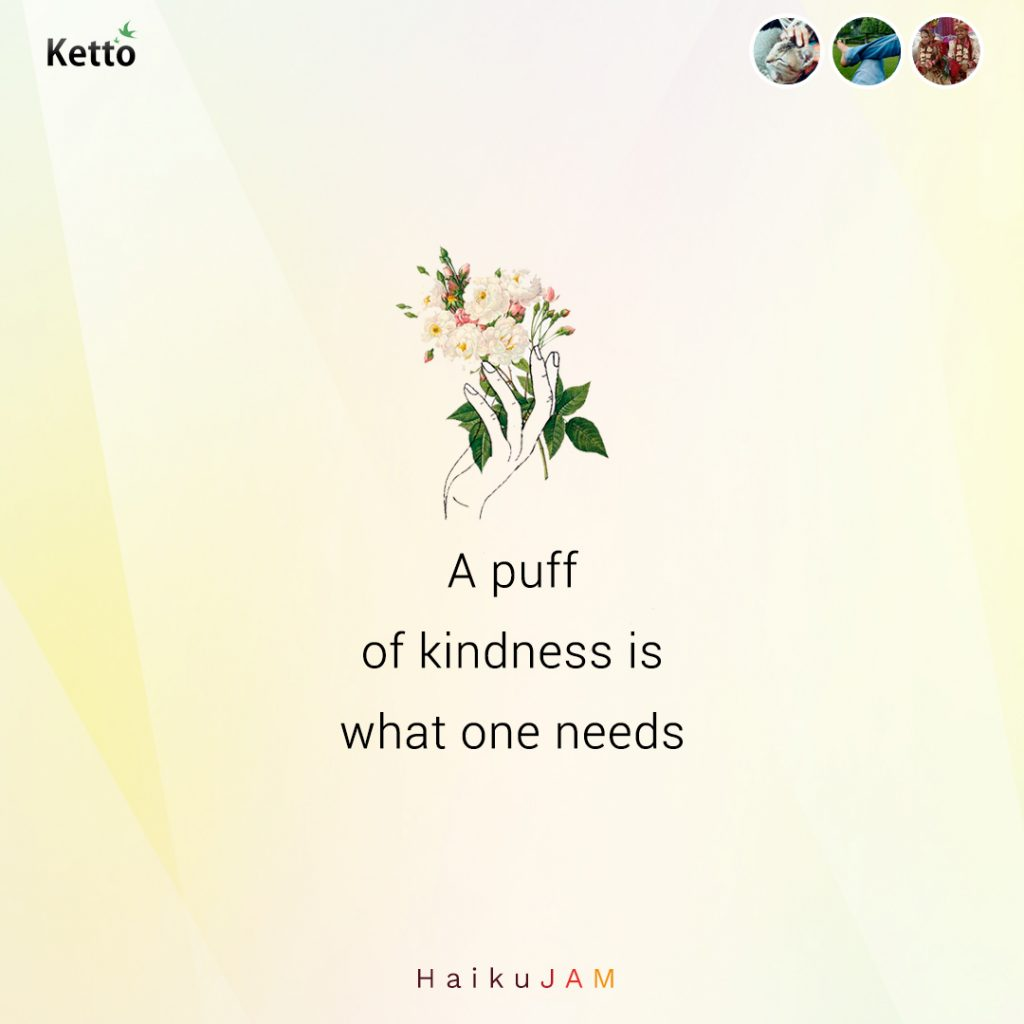 a puff of kindness